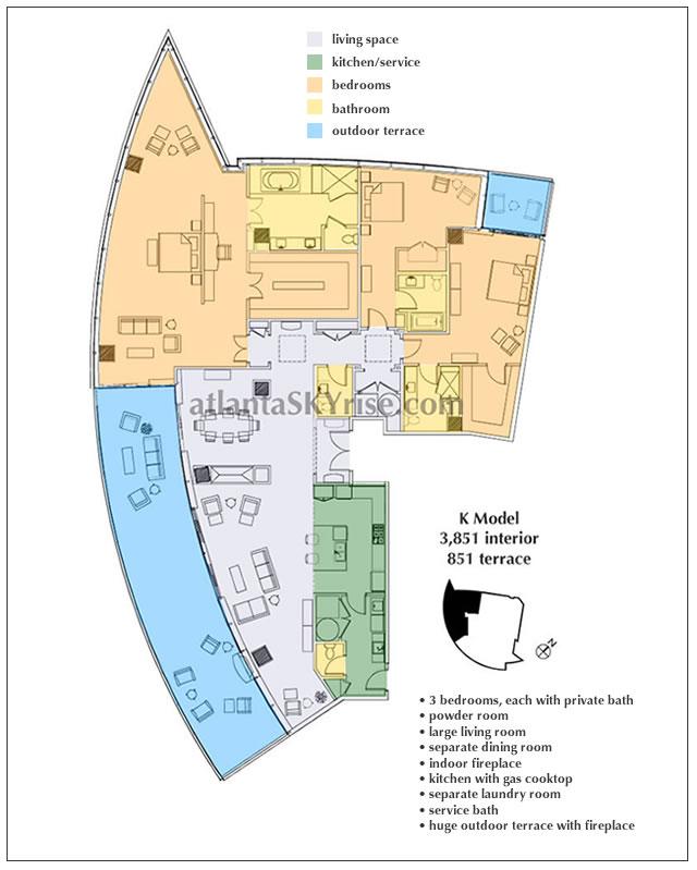 Barbara westbrook designs sovereign 4301 3 281 000 for 1010 midtown floor plans