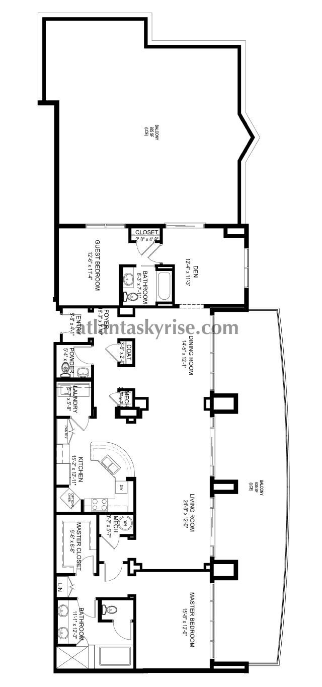 Luxe midtown penthouse 2201 1 490 000 for 1010 midtown floor plans