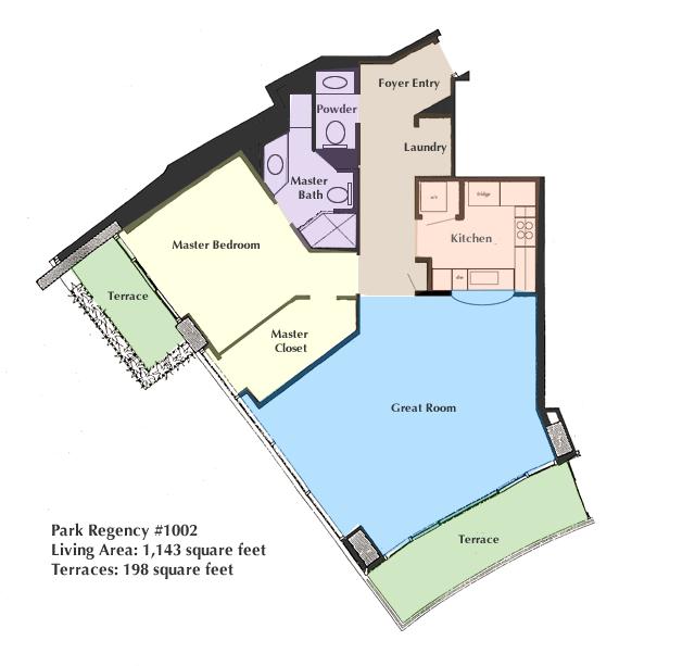 Stunning park regency condominium for 1010 midtown floor plans