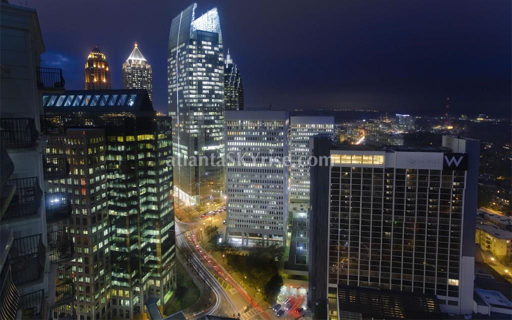 Midtown Atlanta Skyrise at Night (photo of the day)