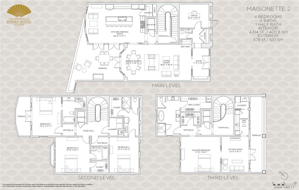 Mandarin oriental residences buckhead debuts the for 1010 midtown floor plans